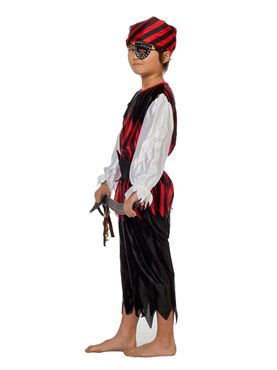 Child Pirate Boy Costume - Back View
