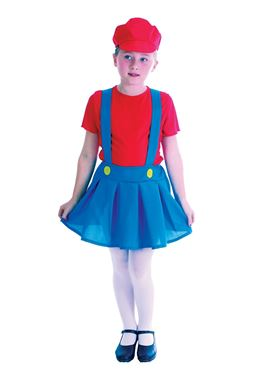 Child Plumber Girl Costume