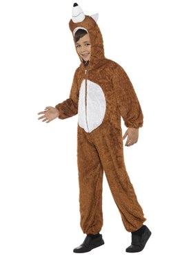 Child Plush Fox Costume - Back View