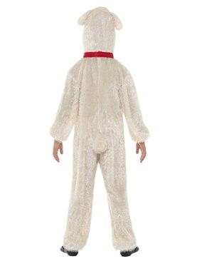Child Plush Lamb Costume - Side View