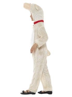 Child Plush Lamb Costume - Back View