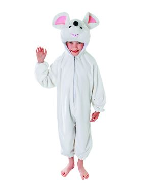 Child Plush White Mouse Costume