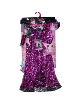 Child Pop Star Costume - Back View