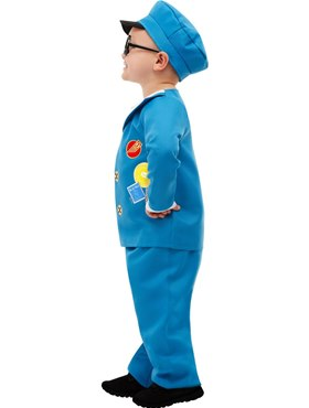 Child Postman Pat Costume - Back View