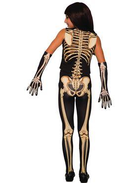 Child Pretty Bones Skeleton Costume - Back View