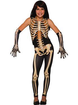 Child Pretty Bones Skeleton Costume