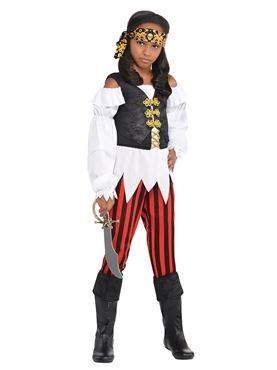 Child Pretty Scoundrel Pirate Costume