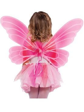 Child Princess Fairy Wings Couples Costume