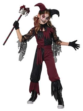 Child Psycho Jester Costume