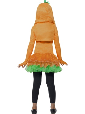 Child Pumpkin Tutu Costume - Side View