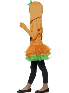 Child Pumpkin Tutu Costume - Back View