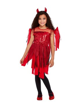 Child Punk Devil Costume - Side View