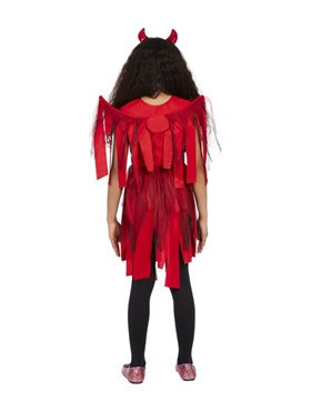 Child Punk Devil Costume - Back View