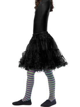 Child Purple and Green Wicked Witch Tights