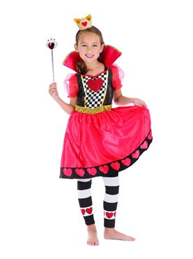 Child Queen of Hearts Costume - Side View