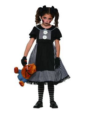 Child Dark Rag Doll Costume