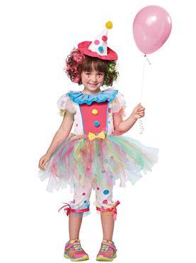 Child Rainbow Clown Costume