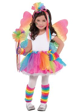 Child Rainbow Fairy Wings - Back View