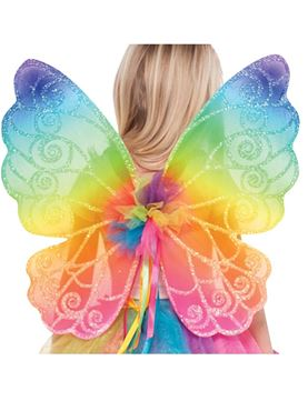 Child Rainbow Fairy Wings