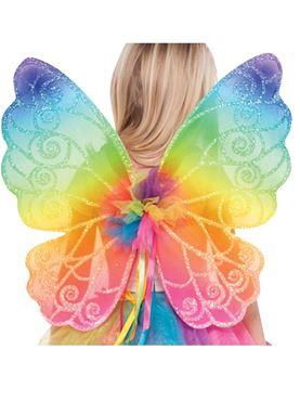 Child Rainbow Fairy Wings