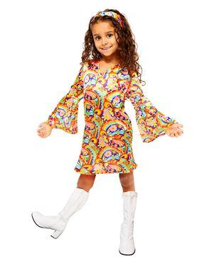 Child Rainbow Hippie Costume
