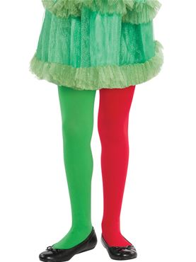 Child Red and Green Tights