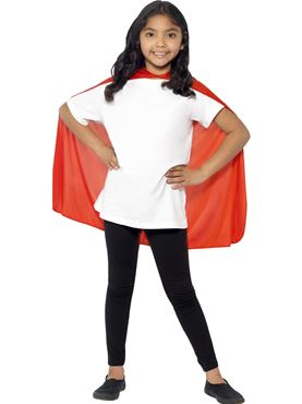 Child Super Hero Red Cape - Back View