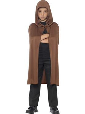 Child Hooded Brown Cape