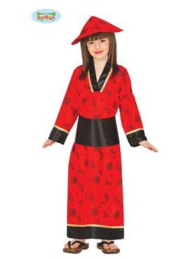 Child Red China Woman Costume