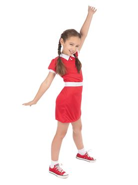 Child Red Dress Orphan Girl Costume