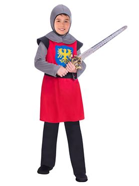 Child Red Medieval Knight Costume