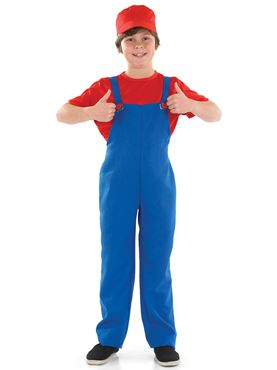 Child Red Plumbers Mate Costume