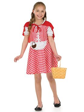 Child Red Riding Hood Costume - Back View