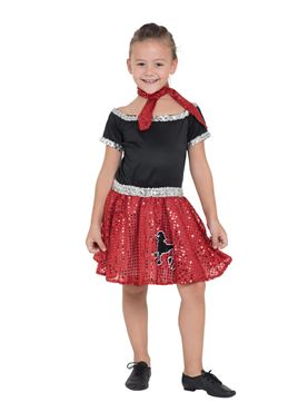 Child Red Rock 'n' Roll Sequin Dress Costume