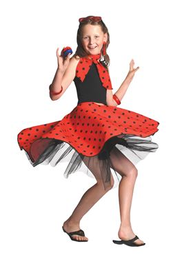 Child Red Rock n Roll Skirt