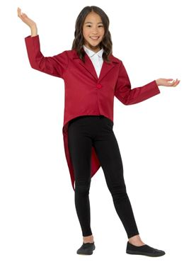 Child Red Tailcoat - Side View