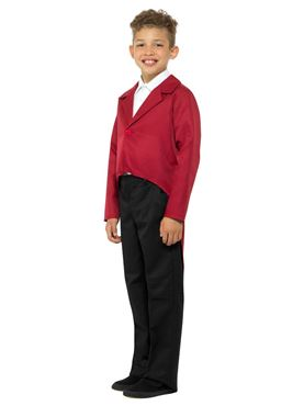 Child Red Tailcoat - Back View