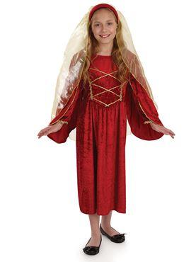 Child Red Tudor Princess Costume