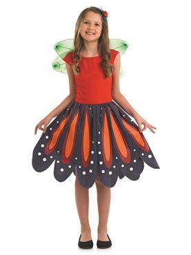 Child Red Woodland Fairy Costume