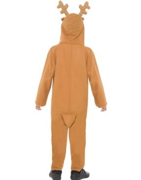 Child Reindeer Onesie Costume - Side View