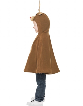 Child Reindeer Poncho - Back View