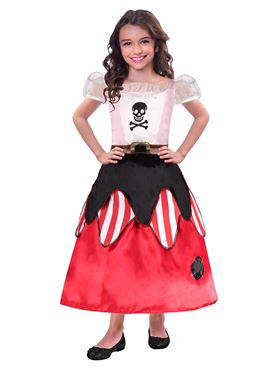 Child Reversible Princess Pirate Costume - Back View