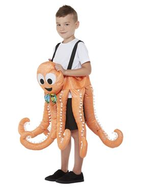 Child Ride In Octopus Costume - Back View
