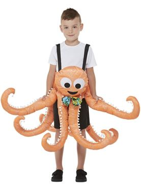 Child Ride In Octopus Costume