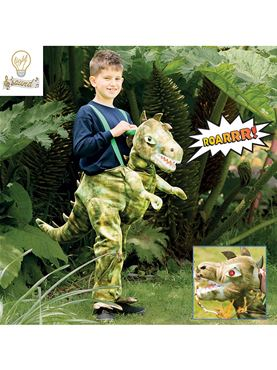 Child Ride On Dinosaur Costume - Back View