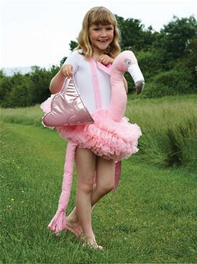 Child Ride On Flamingo Costume
