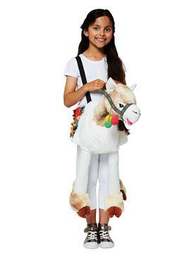 Child Ride On Llama Costume - Back View