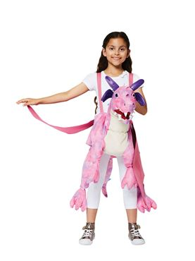 Child Ride On Pink Dragon Costume