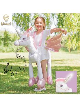 Child Ride On Unicorn Light and Sound Costume
