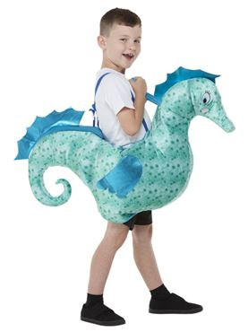 Child Ride-In Seahorse Costume - Back View